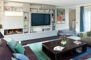 Фото 10 Телевизор на стене в интерьере (45 фото): идеи гармоничного размещения