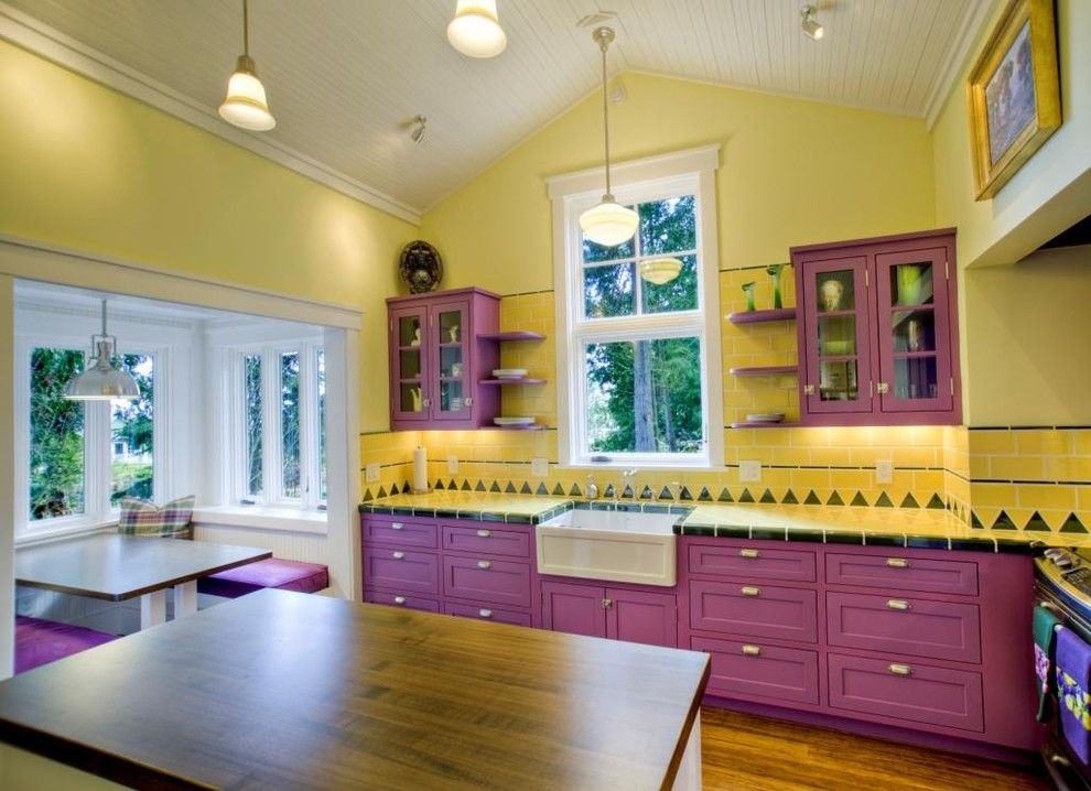 Purple Kitchen Cabinets  Best Ideas of Kitchen Furniture