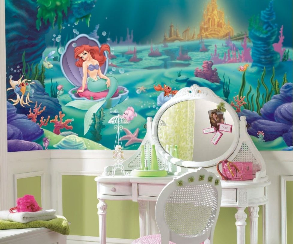 Фото 13 - Популярный мотив для фотообоев в комнату для девочки - герои мультфильмов