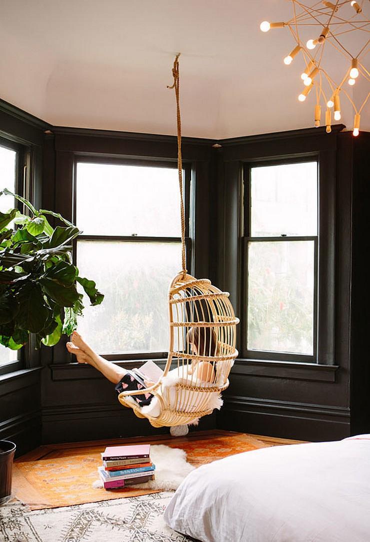 Круглый эркер создает ощущение комфорта в вашем интерьере