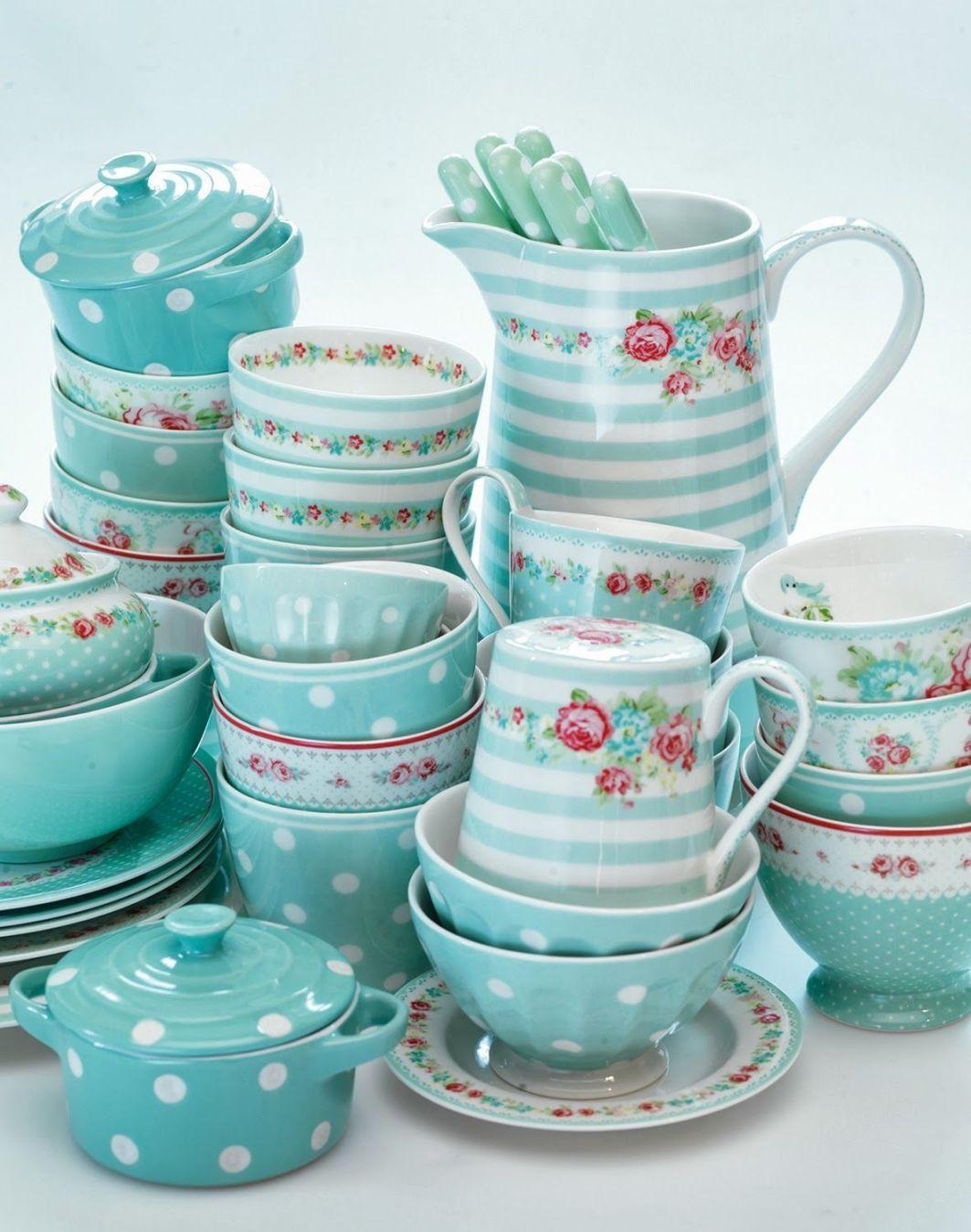 голубой чайный сервиз купить