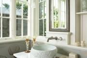Фото 23 Раковина в ванную комнату (65+ моделей в интерьере): обзор современных материалов и как не ошибиться с размерами?