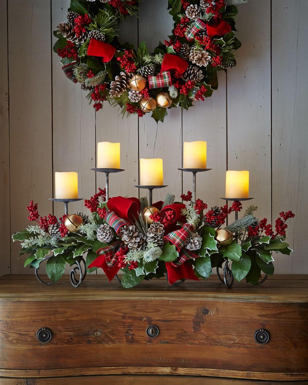 Новогодний канделябр придаст вашему интерьеру праздничный вид