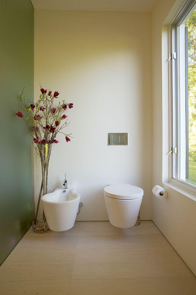 Унитаз и биде в ванной