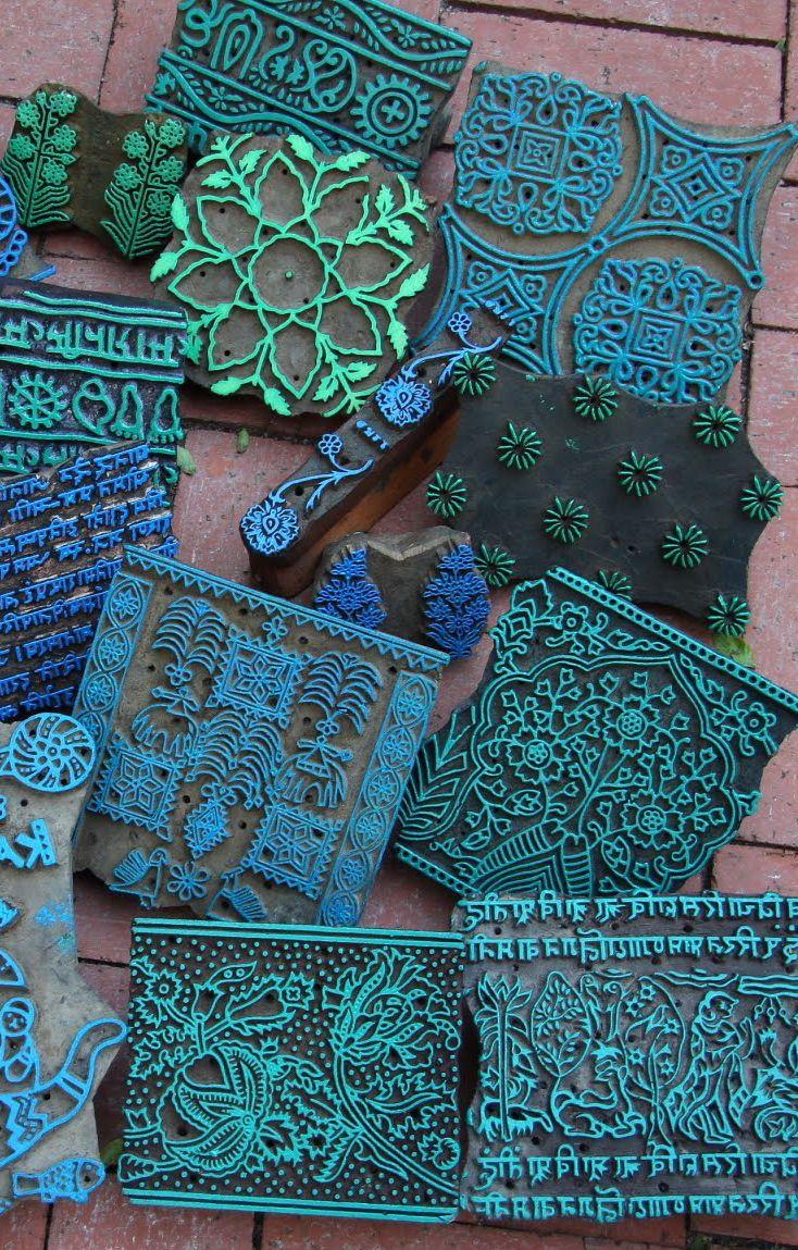 Индийские деревянные штампы