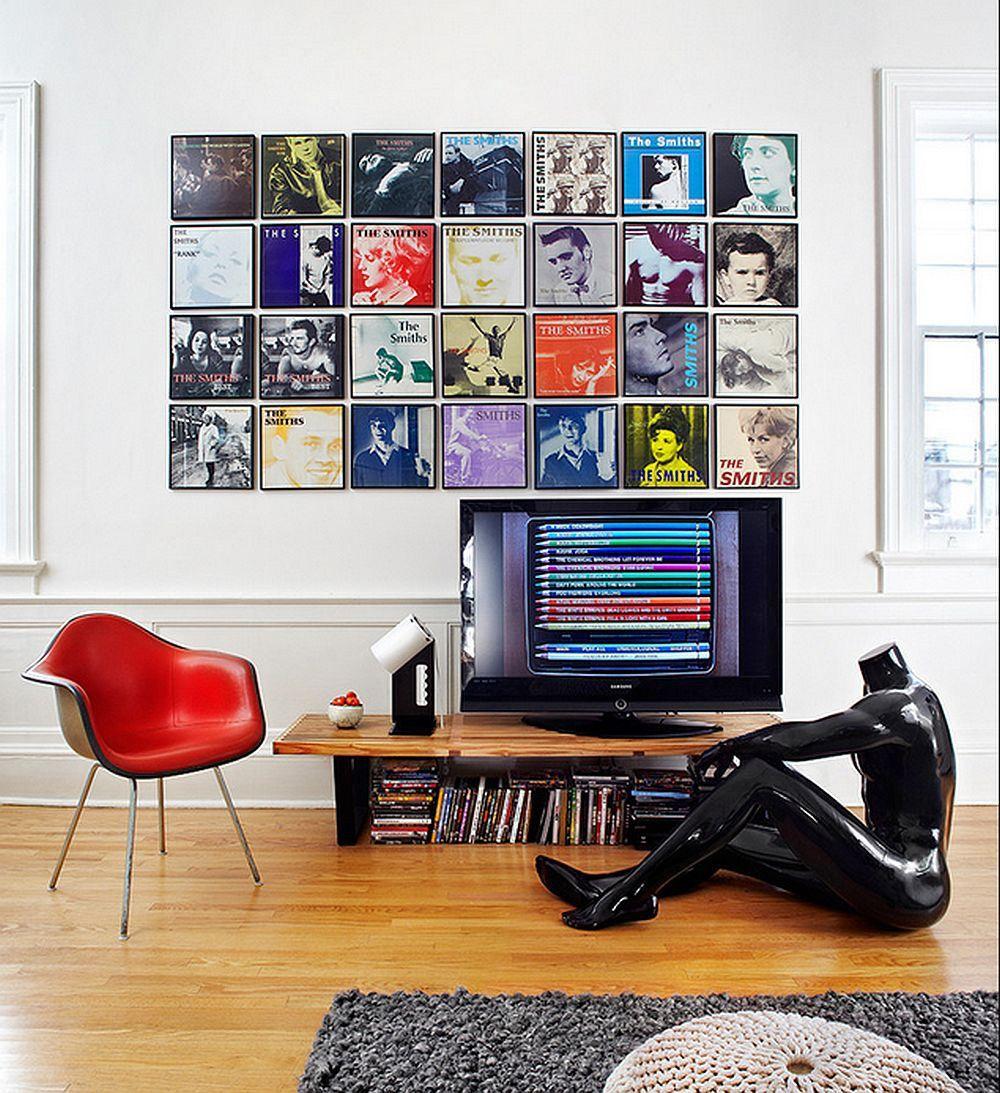 Хорошая коллекция пластинок - прекрасный вариант для декорирования