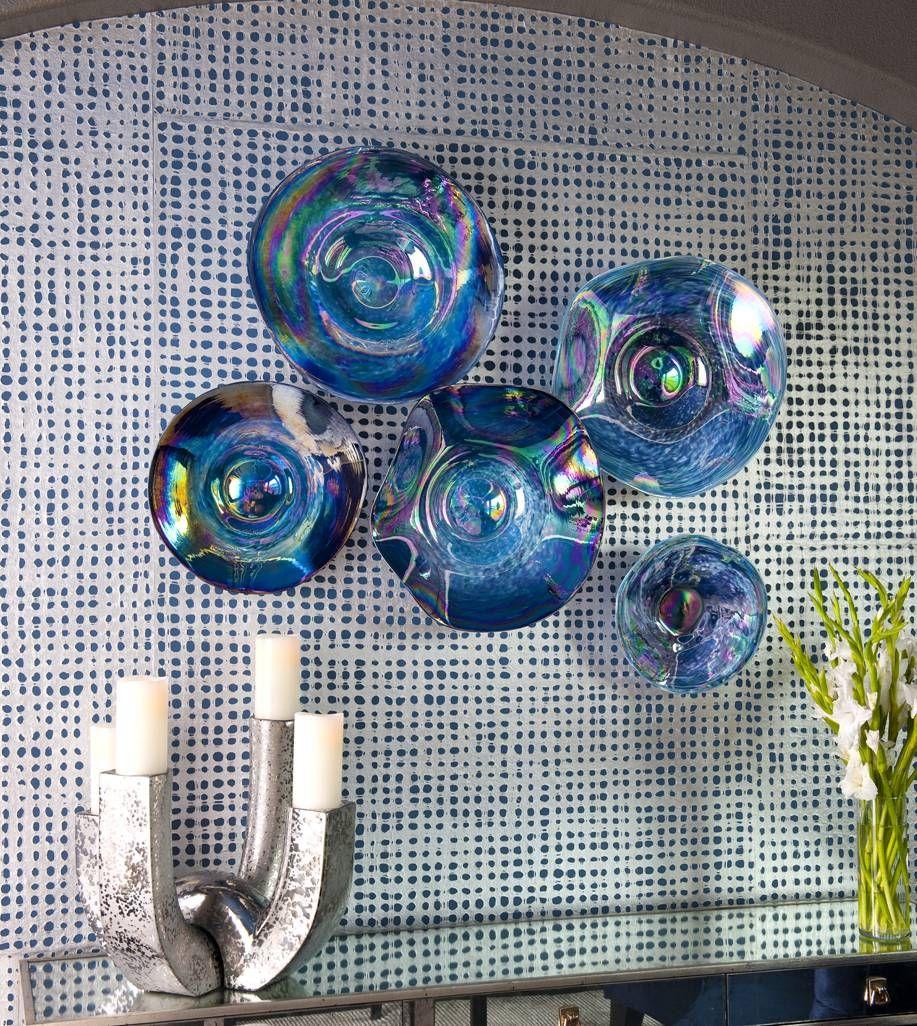 Декоративные синие тарелки