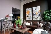 Фото 8 Дизайн двухкомнатной квартиры: лучшие реализации перепланировки и особенности зонирования