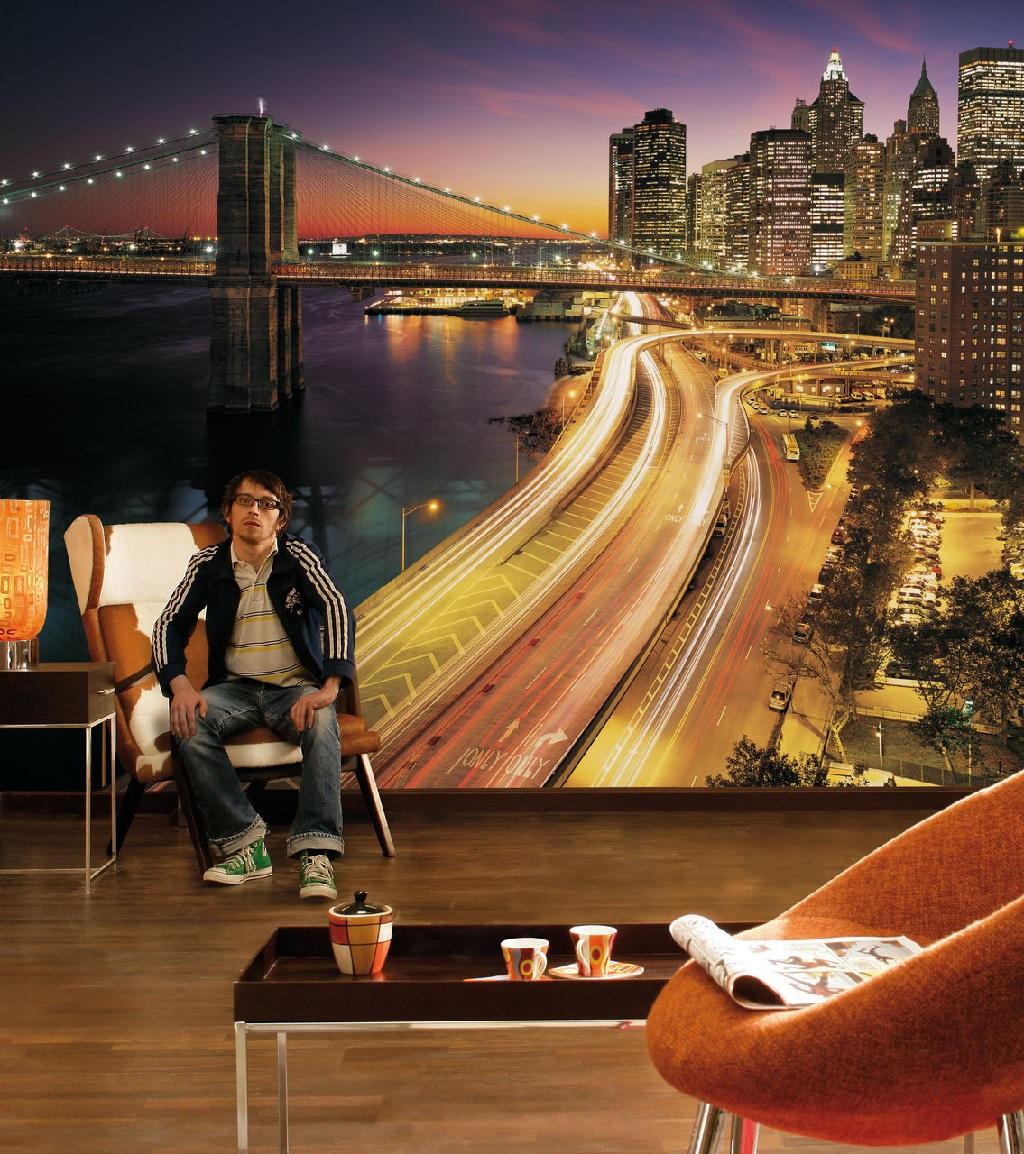 Вечерний Нью-Йорк в огнях