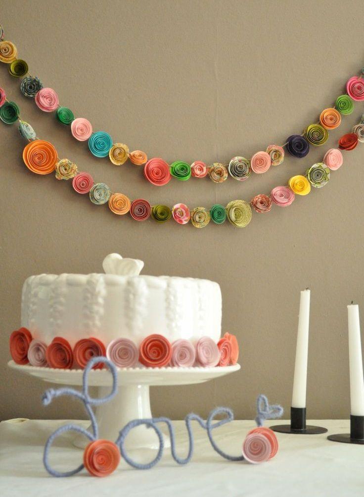 Свадебная гирлянда из объемных роз