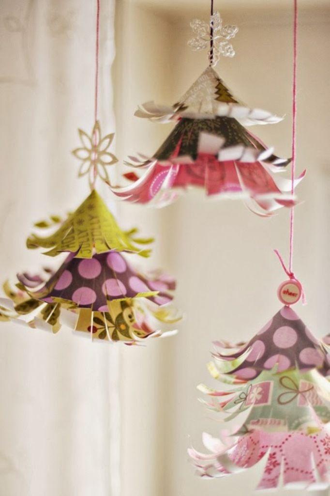 Сделать украшение к новому году из бумаги