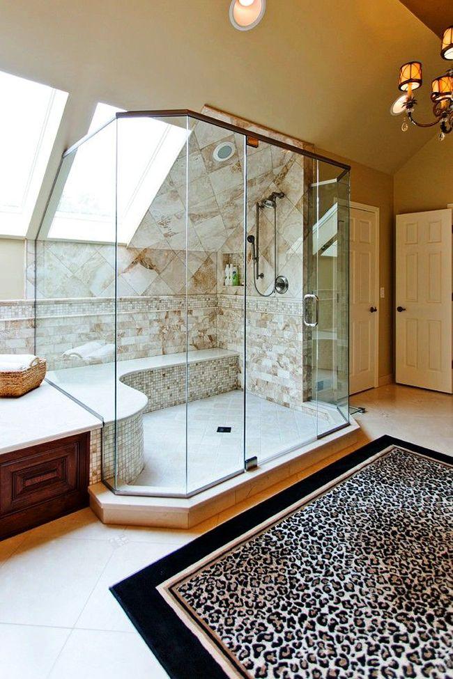 Модный тренд – леопардовый принт – будет уместен даже в ванной комнате в виде коврика