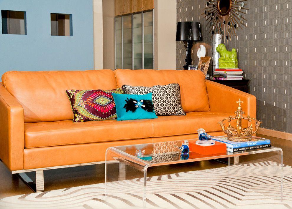 Оранжевая сочная софа