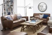Фото 12 Кожаные диваны для дома и квартиры (60+ лучших недорогих моделей): комфорт без компромиссов!