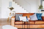 Фото 19 Кожаные диваны для дома и квартиры (60+ лучших недорогих моделей): комфорт без компромиссов!