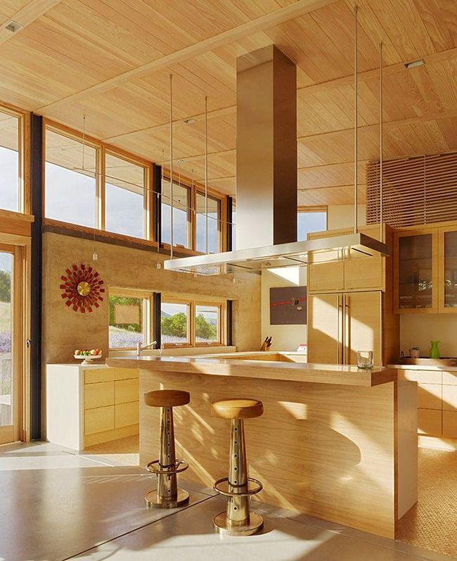 Простота и пространственная свобода – девиз такой кухни в стиле минимализм