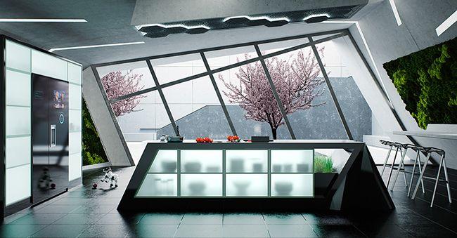 Фьюжн технологии сенсорного экрана варочной панели, делают липкие поваренные книги и запачканные смартфоны мукой устаревшими. Эта кухня будущего!