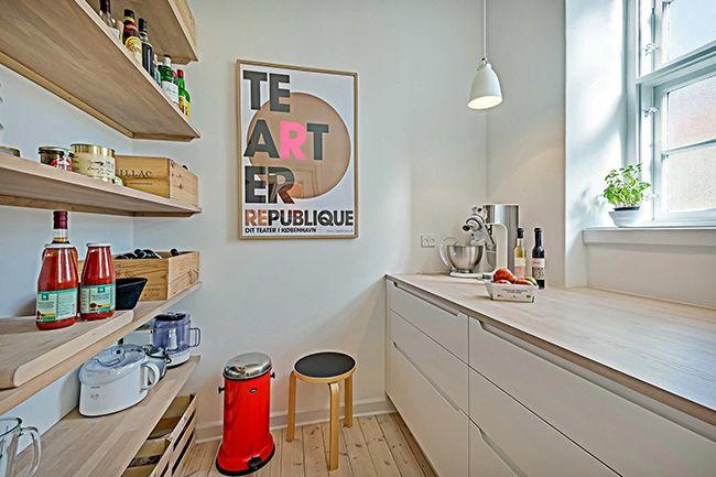Кухня в скандинавском стиле подходит тем, кто ценит комфорт и удобство