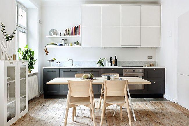 Для кухни в стиле минимализм в приоритете остаются натуральные материалы и светлые полутона