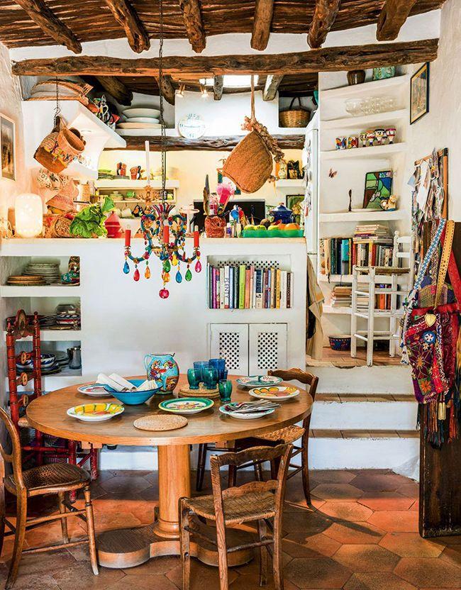 Наполнить интерьер кухни своими идеями и воспоминаниями, дать волю своей фантазии позволит стиль бохо