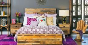 Кровати двуспальные деревянные (50 фото): надежная роскошь фото