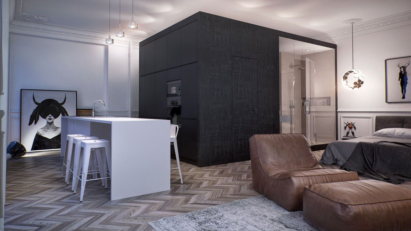 Компактное и функциональное зонирование в квартире