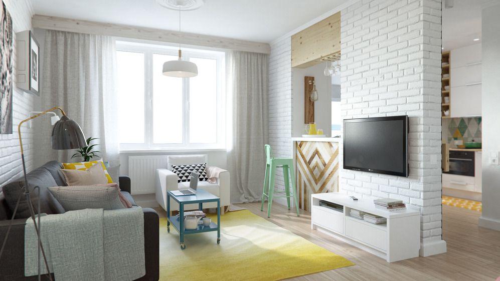 Современное оформление небольшой квартиры