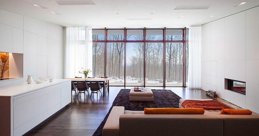 Просторная минималистская гостиная