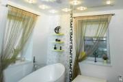Фото 19 Натяжные потолки в ванной (45 фото): идеальный выбор