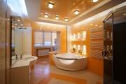 Фото 1 Натяжные потолки в ванной (45 фото): идеальный выбор