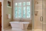Фото 12 Натяжные потолки в ванной (45 фото): идеальный выбор