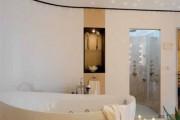 Фото 9 Натяжные потолки в ванной (45 фото): идеальный выбор
