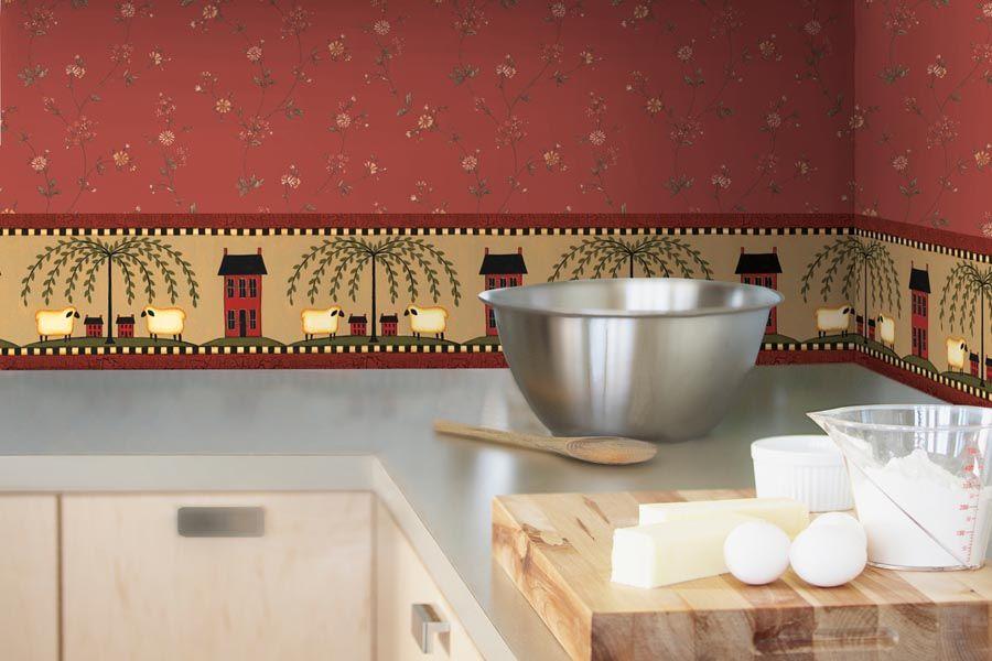 Красивые, выразительные моющиеся обои отлично впишутся в общую композицию интерьера кухни, не нарушая гармонию