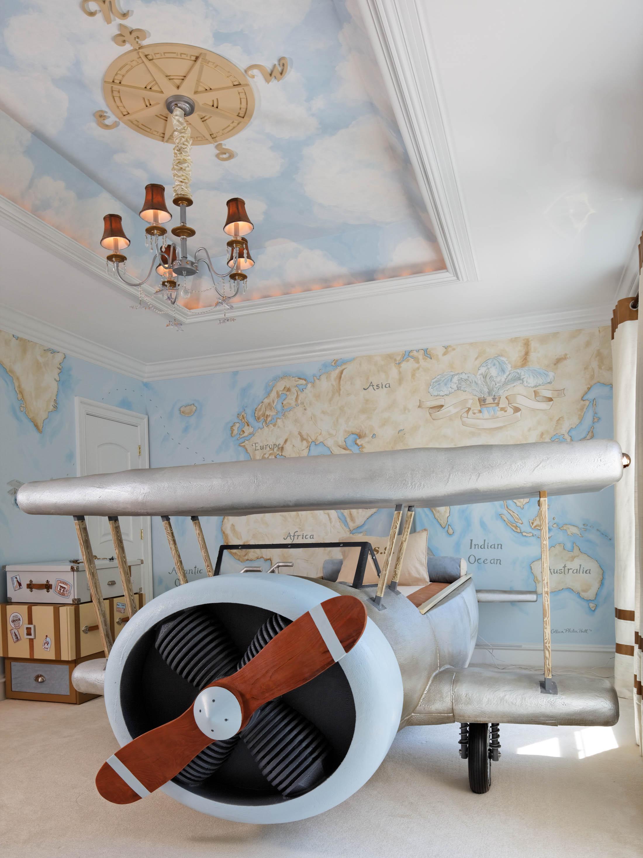 Красивый подвесной потолок из гипсокартона — это замечательная возможность подчеркнуть дизайн детской комнаты и повысить ее звукоизоляцию