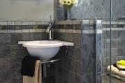 Фото 22 Раковина в ванную комнату (65+ моделей в интерьере): обзор современных материалов и как не ошибиться с размерами?