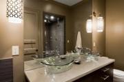 Фото 7 Раковина в ванную комнату (65+ моделей в интерьере): обзор современных материалов и как не ошибиться с размерами?
