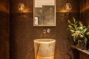 Фото 18 Раковина в ванную комнату (65+ моделей в интерьере): обзор современных материалов и как не ошибиться с размерами?