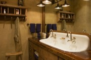 Фото 14 Раковина в ванную комнату (65+ моделей в интерьере): обзор современных материалов и как не ошибиться с размерами?