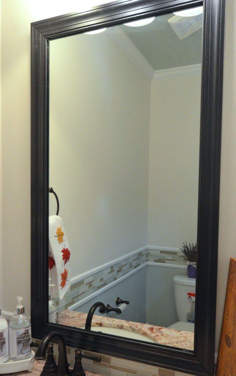 Рама для зеркала из потолочного плинтуса - просто и красиво