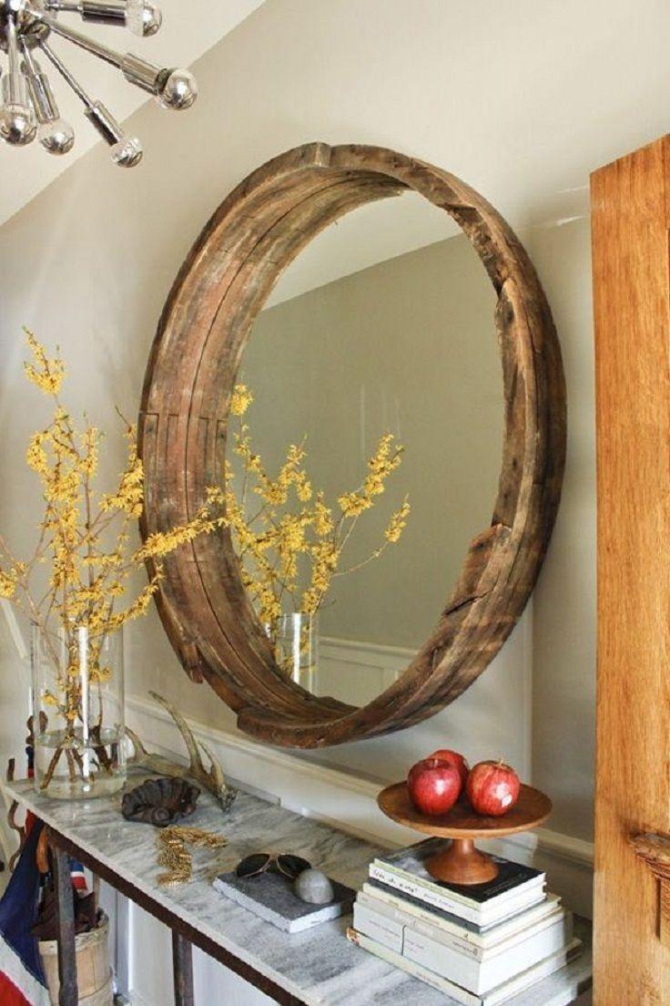 Как сделать зеркало в деревянной раме своими руками
