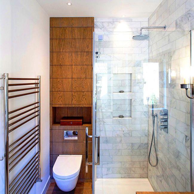 Современные производители учли недостатки маленьких ванных комнат, поэтому изобрели небольшие по размеру, но практичные в использовании модели шкафов, как, например, этот