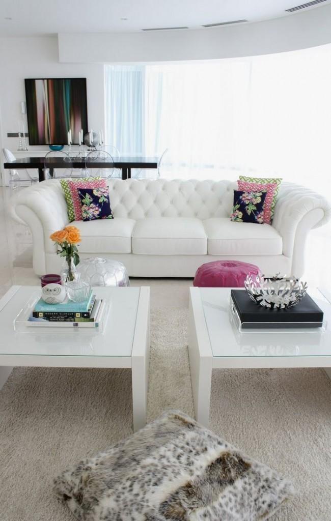 "Белый диван ""Честерфилд"""