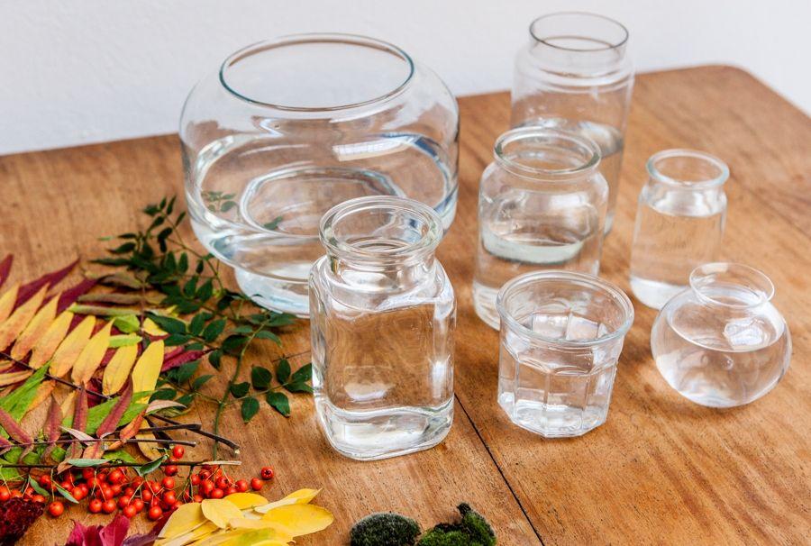 Для изготовления гелевой свечи необходимо подобрать прозрачную емкость