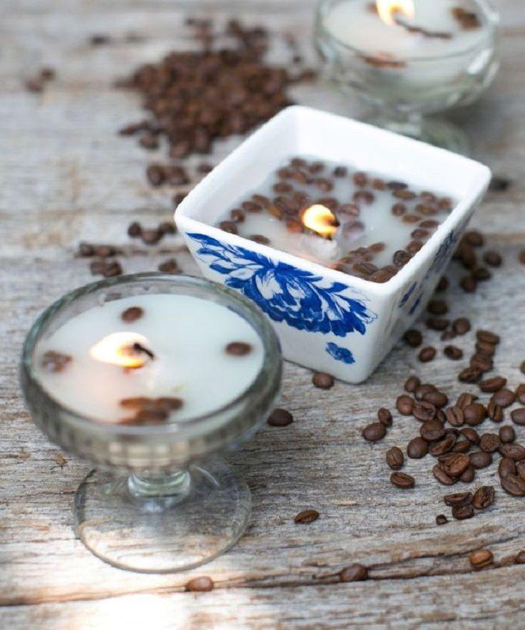 Добавленные в воск кофейные зерна
