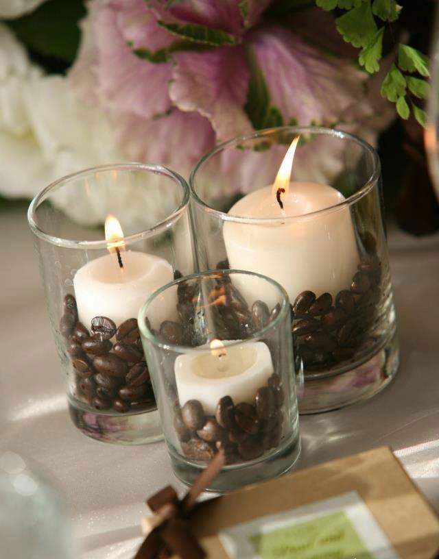 Оригинальная идея кофейной свечи