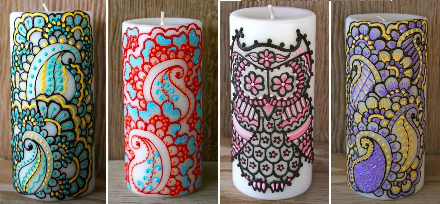 Креативные яркие свечи