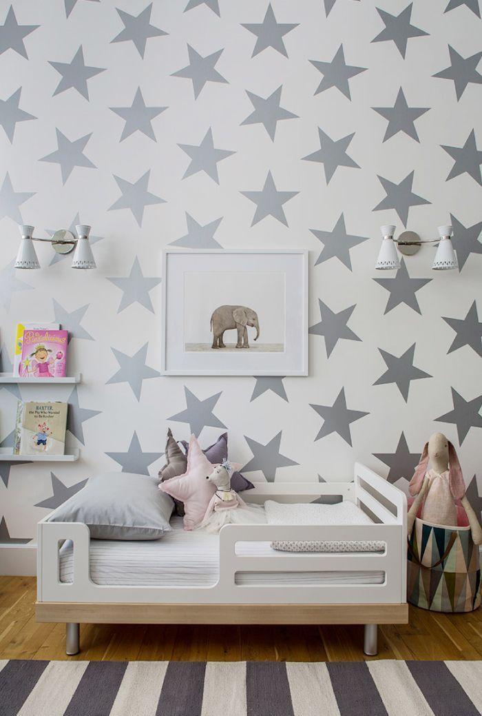Звезды на стене в детской
