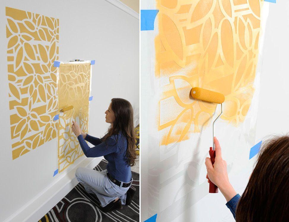 Трафареты для стен своими руками (50 фото): тонкости и секреты техники
