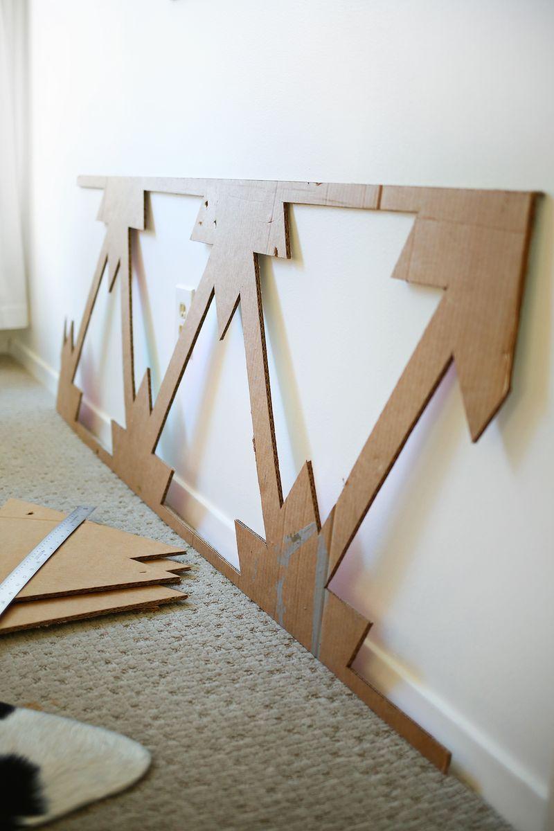 Создайте шаблон трафарета из плотной бумаги
