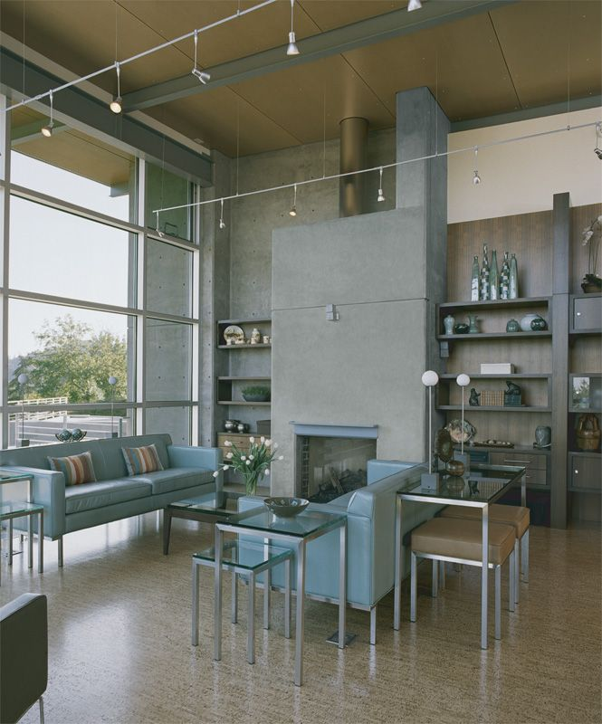 Пробковый пол в гостиной - мягкий и комфортный